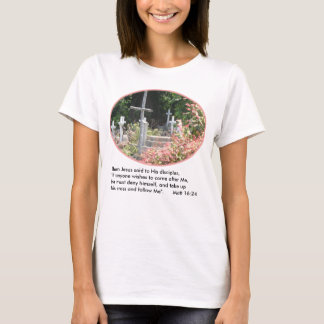 Garden Crosses Women's T-Shirt w/Verse