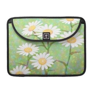 Garden Daisies Bokeh Dots Sleeve For MacBooks