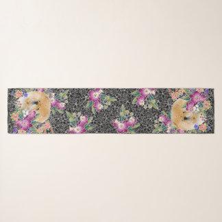 GARDEN DANCE CHOW - 16x72 Chiffon scarf
