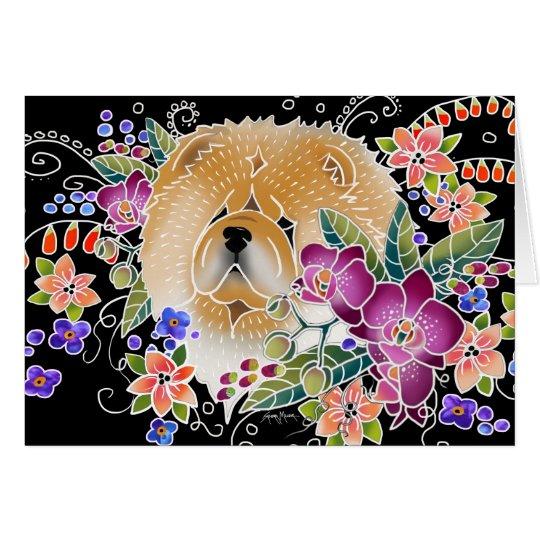 GARDEN DANCE Chow - Black background cards