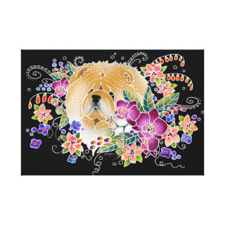 GARDEN DANCE CHOW - Stretched Canvas  Art panel
