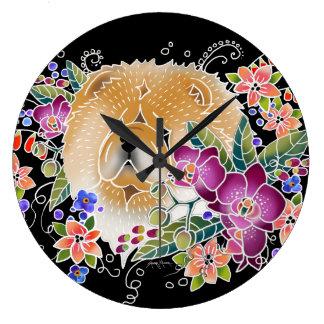 GARDEN DANCE Chow -  Wall Clock choose shape/size