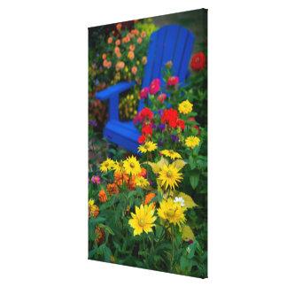 Garden designs in our Garden Sammamish, 3 Stretched Canvas Prints