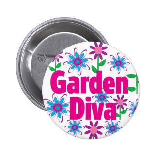 Garden Diva 6 Cm Round Badge