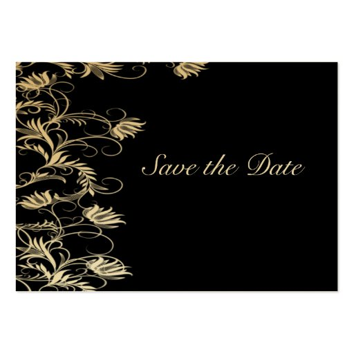 Garden Essence Black And Gold Save The Date Business Card