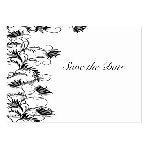 Garden Essence Black And White Save The Date Cards Business Card