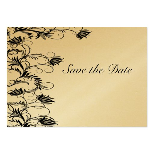 Garden Essence Gold And Black Save The Date Cards Business Card