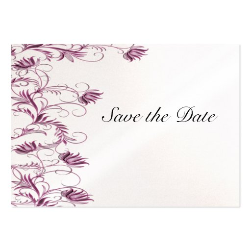 Garden Essence Metallic Pink Ice Save The Date Business Card Templates