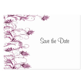 Garden Essence Pink And White Save The Date Cards Business Cards
