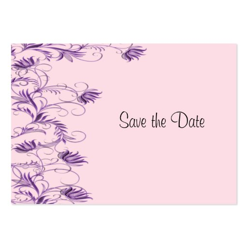 Garden Essence Violet And Pink Save The Date Cards Business Cards