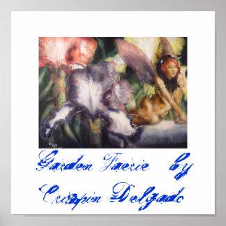 Garden Faerie  Reprint on Canvas Poster