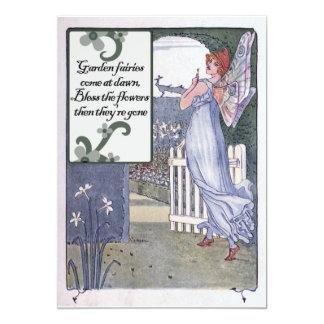 "Garden Fairies 5"" X 7"" Invitation Card"