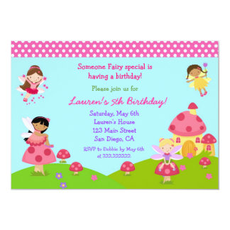 Garden Fairy Birthday Invitation