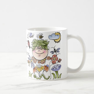 Garden Fairy Folk Art Baby Boy's Basic White Mug