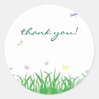 Garden Fairy Thank You Round Label Sticker