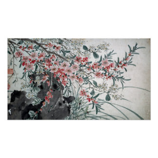 Garden Flowers After Chen Chun Poster