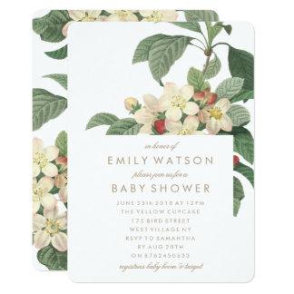 Garden Flowers Baby Shower Invitation