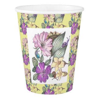 garden flowers paper cup