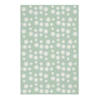 Garden flowers pattern customized stationery