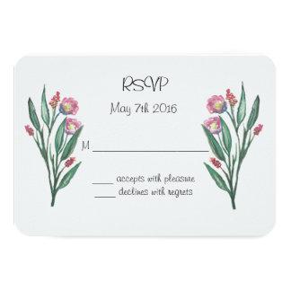 Garden Flowers RSVP Card
