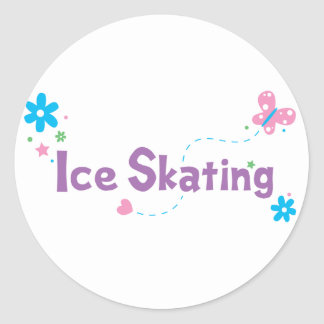 Garden Flutter Ice Skating Stickers