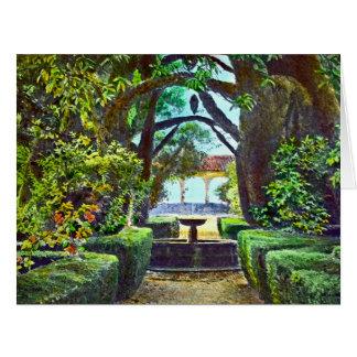 Garden Fountain 1915 Card