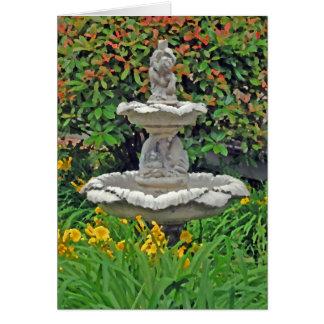 """""""Garden Fountain"""" Card"""