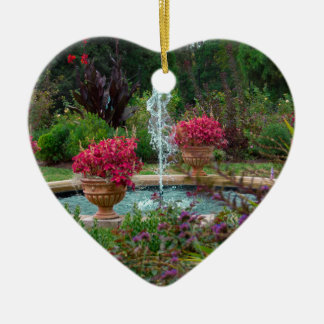 Garden Fountain Ceramic Heart Decoration