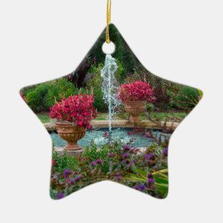 Garden Fountain Ceramic Star Decoration