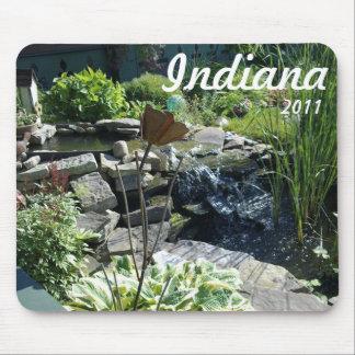 Garden fountain mouse pad