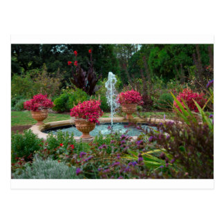 Garden Fountain Postcard
