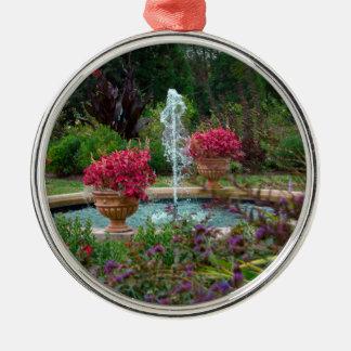 Garden Fountain Silver-Colored Round Decoration