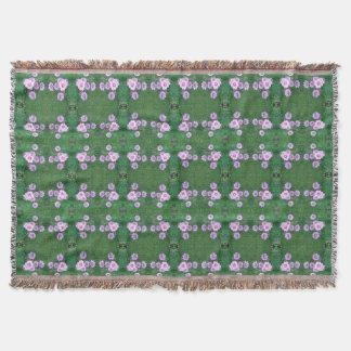 Garden Fractal Dapple 1 Throw Blanket