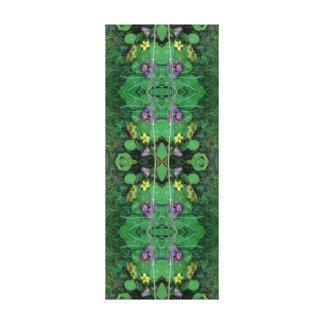 Garden Fractal Dapple Floral Lawn Canvas Panel 2B
