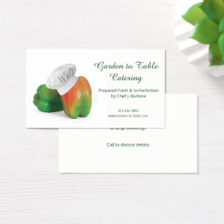 Garden Fresh Catering Service Business Card