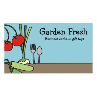 garden fresh vegetables vegan cooking business ... pack of standard business cards