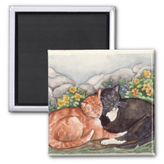 Garden Friends Square Magnet