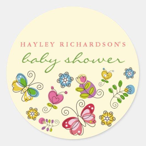 Garden Fun Baby Shower Sticker