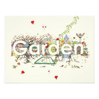 Garden funny creative text art print photo art