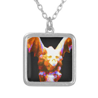 Garden Gargoyle Silver Plated Necklace