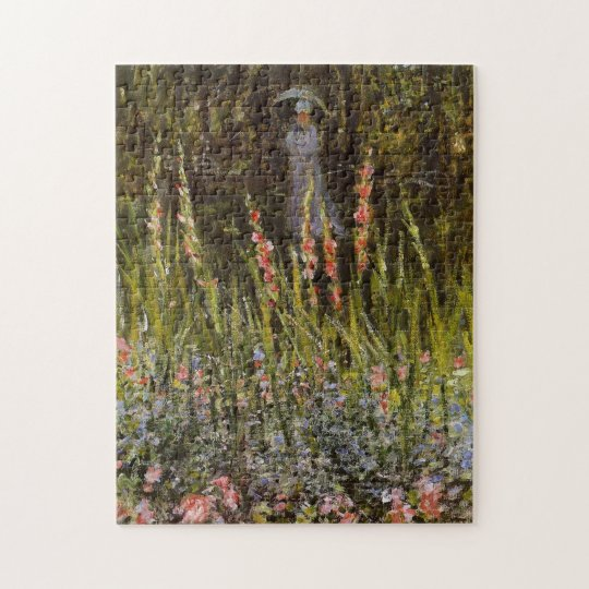 Garden Gate at Vetheuil Monet Fine Art Jigsaw Puzzle
