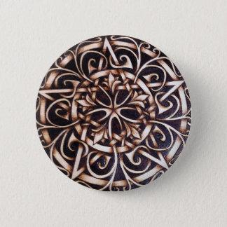 Garden Gate Pentacle Button Pin