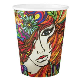 Garden Girl paper cup