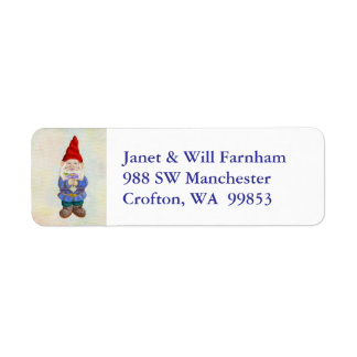 Garden Gnome address label