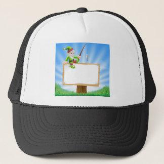 Garden gnome or elf sign trucker hat