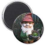 Garden Gnomes 6 Cm Round Magnet