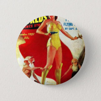 Garden Gnomes at the Beach 6 Cm Round Badge