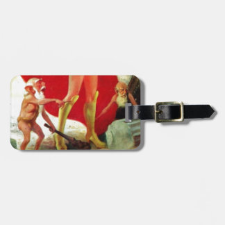 Garden Gnomes at the Beach Luggage Tag