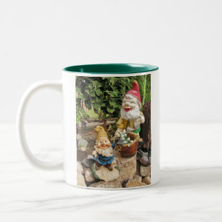Garden gnomes Two-Tone coffee mug