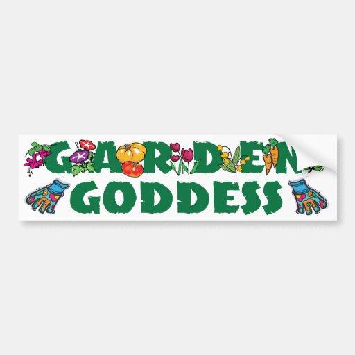 Garden Goddess Car Bumper Sticker